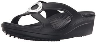 crocs Women's Sanrah Beveled Circle W Wedge Sandal $27.32 thestylecure.com