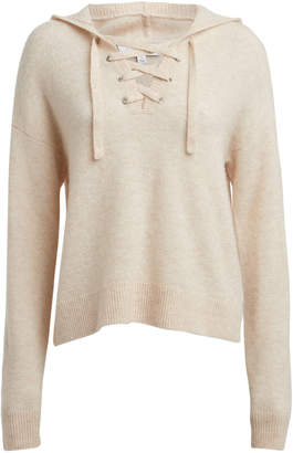 Intermix Sachi Hooded Wool-Blend Sweater