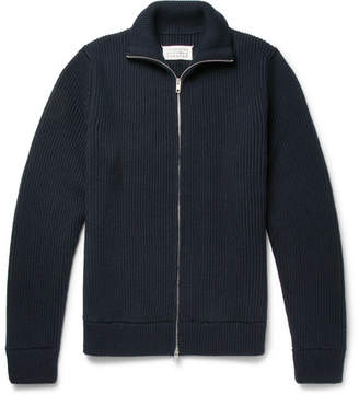 Maison Margiela Ribbed Virgin Wool Zip-Up Cardigan