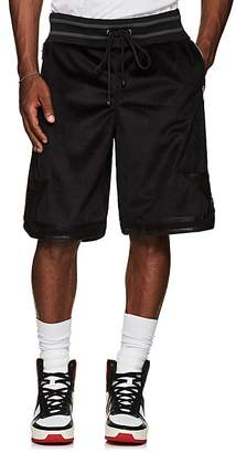 CARDONI Men's Star-Detailed Velour Basketball Shorts