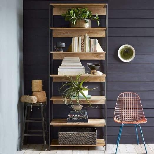 """Industrial Modular 33"""" Bookshelf"""