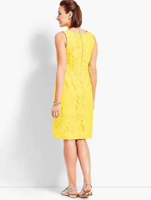 Talbots Leaf-Lace Sheath Dress