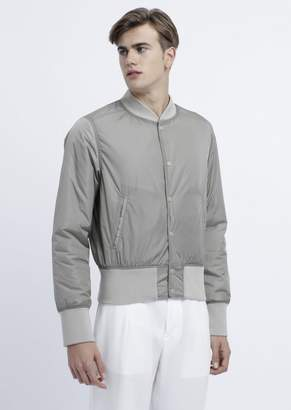 Emporio Armani Reversible Bomber Jacket With Logo Embroidered On The Back