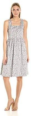 Helene Berman Women's Grey and Pink Flower Sundress