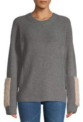 Agnona Textured Cashmere and Mink Fur Sweater