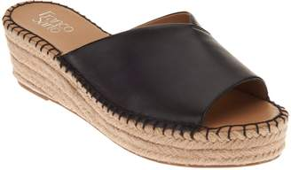 Franco Sarto Leather Espadrille Wedges - Pinot