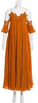Self-Portrait Cold-Shoulder Maxi Dress