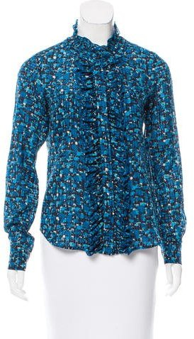Kate Spade New York Printed Long Sleeve Blouse