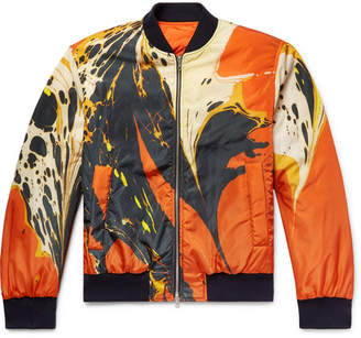 Dries Van Noten Reversible Printed Shell Bomber Jacket