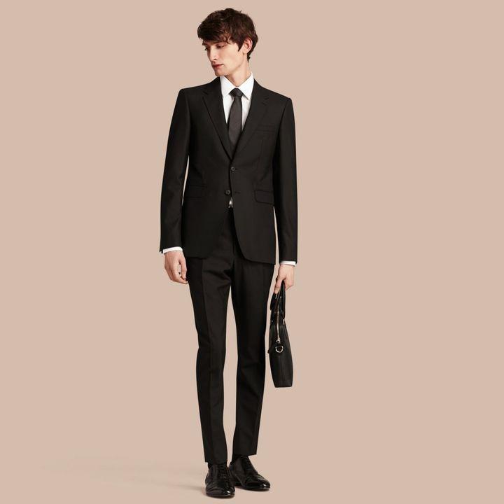 burberry modern geschnittener anzug aus wolle shopstyle. Black Bedroom Furniture Sets. Home Design Ideas