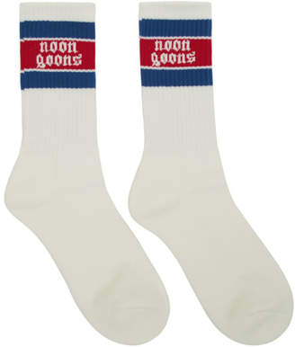 Noon Goons Two-Pack White Stripe Stop Sox Socks