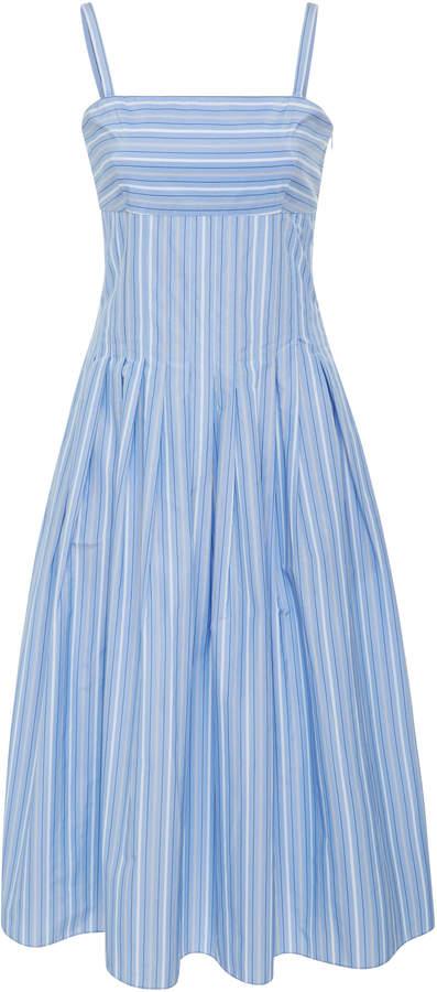 Rosetta Getty Striped Poplin Midi Dress