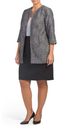 Plus Skirt Suit With Duster Jacket