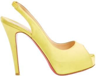 Free Shipping Latest Pre-owned - Private Number cloth heels Christian Louboutin Free Shipping Discounts o9Dt6U