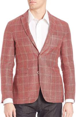 Corneliani Men's Plaid Blazer