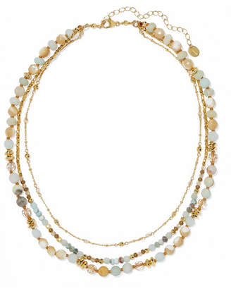 Chan Luu Gold-plated, Amazonite And Bead Necklace