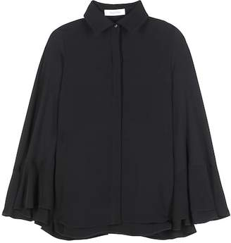 Valentino Silk cape blouse