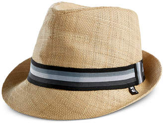 B Block Headwear Men's Woven Raffia Straw Fedora