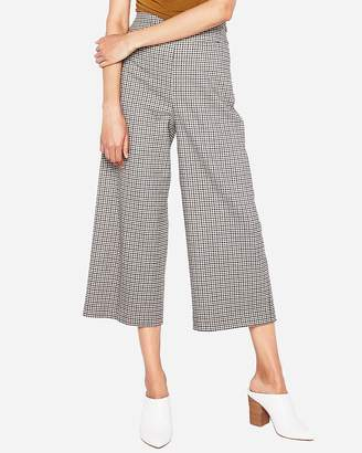 Express High Waisted Mini Check Culottes