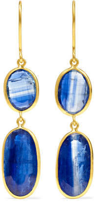 Pippa Small 18-karat Gold Kyanite Earrings