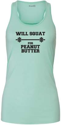 Butter Shoes Brand88 Will Squat For Peanut Butter, Ladies Tank Top - S