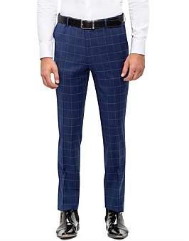 Sand Fl Fr Windowpane Check Suit Trouser S193