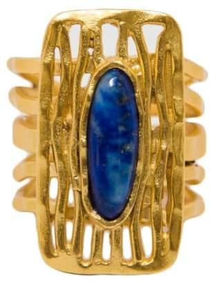 Christina Greene - Deco Shield Ring in Lapis