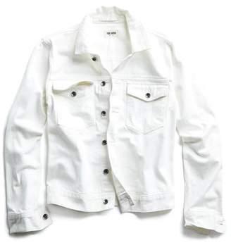 Todd Snyder Japanese Stretch Selvedge Denim Jacket in White