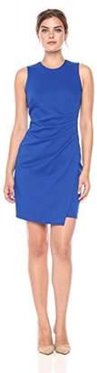 Lark & Ro Women's Sleeveless Sheath Dress with Side Pleat