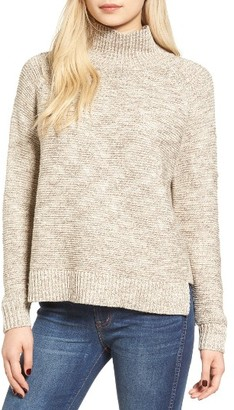 Women's Madewell Melange Turtleneck Sweater $85 thestylecure.com