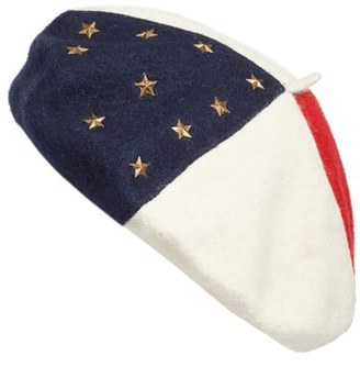 Women's Collection Xiix Lady Liberty Wool Beret - Ivory $32 thestylecure.com