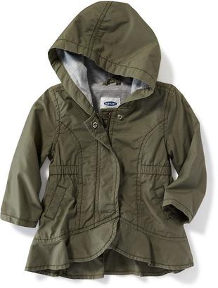 Hooded Peplum-Hem Utility Jacket for Baby $26.99 thestylecure.com