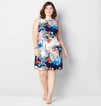 Avenue Floral Keyhole A-Line Dress