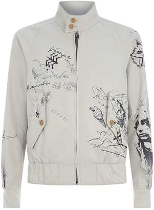 Burberry Graffiti Bomber Jacket