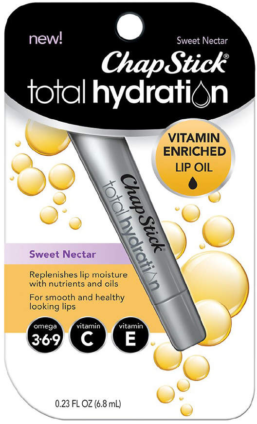 Chapstick ChapStick Total Hydration Vitamin Enriched Lip Oil, Non Tinted, Vitamin C, Vitamin E
