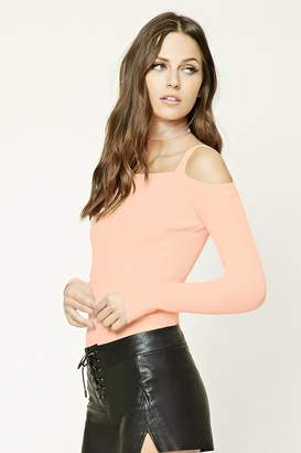 Forever 21 Ribbed Open-Shoulder Top
