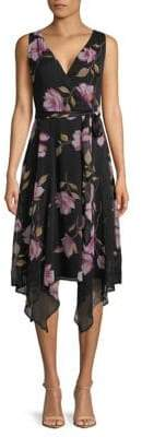 Gabby Skye Sleeveless Printed Chiffon Dress