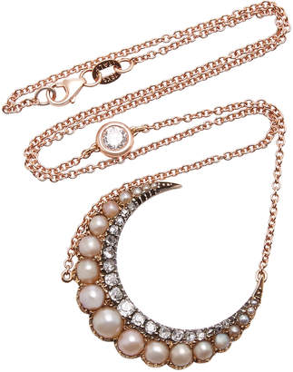 Chloé Toni + Goutal Rose Gold Pearl And Diamonds Necklace
