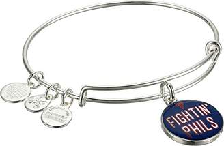 Alex and Ani Fighting' Phils Expandable Rafaelian Silver-Tone Bangle Bracelet