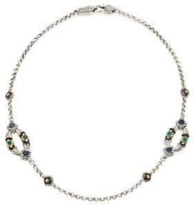 Konstantino Nemesis Green Agate Two-Station Necklace