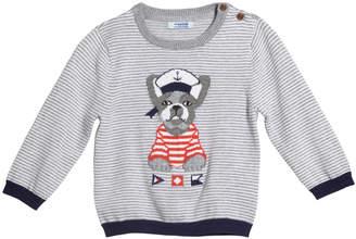 Mayoral Striped Bulldog Intarsia Sweater, Size 12-36 Months