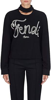 Fendi Women's Embellished Cotton Terry Sweatshirt