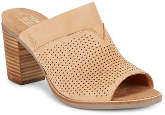 Toms Women's Majorcamul Perforated Leather Mules