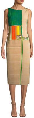Akris Silk Colorblocked Sheath Dress