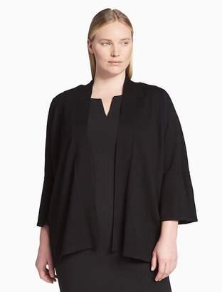 Calvin Klein plus size mid bell sleeve shrug