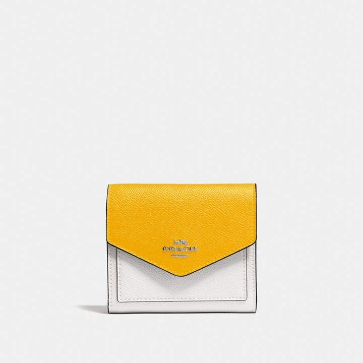 Coach Small Wallet In Colorblock - CHALK MULTI/SILVER - STYLE