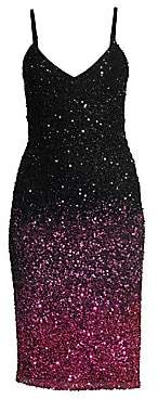 Parker Black Women's Faith Plunging Beaded Mesh Bodycon Dress - Size 0