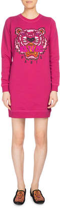 Kenzo Tiger Classic Sweatshirt Dress, Fuchsia