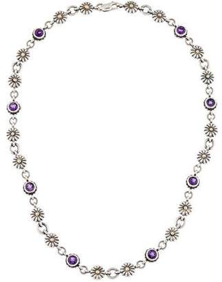 Lagos Amethyst & Flower Station Necklace