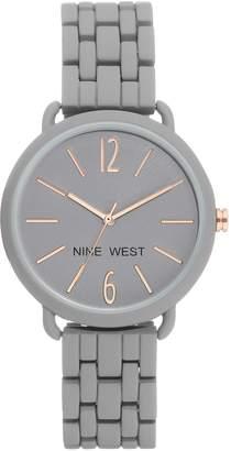 Nine West Women's Gray Rubberized Bracelet Watch